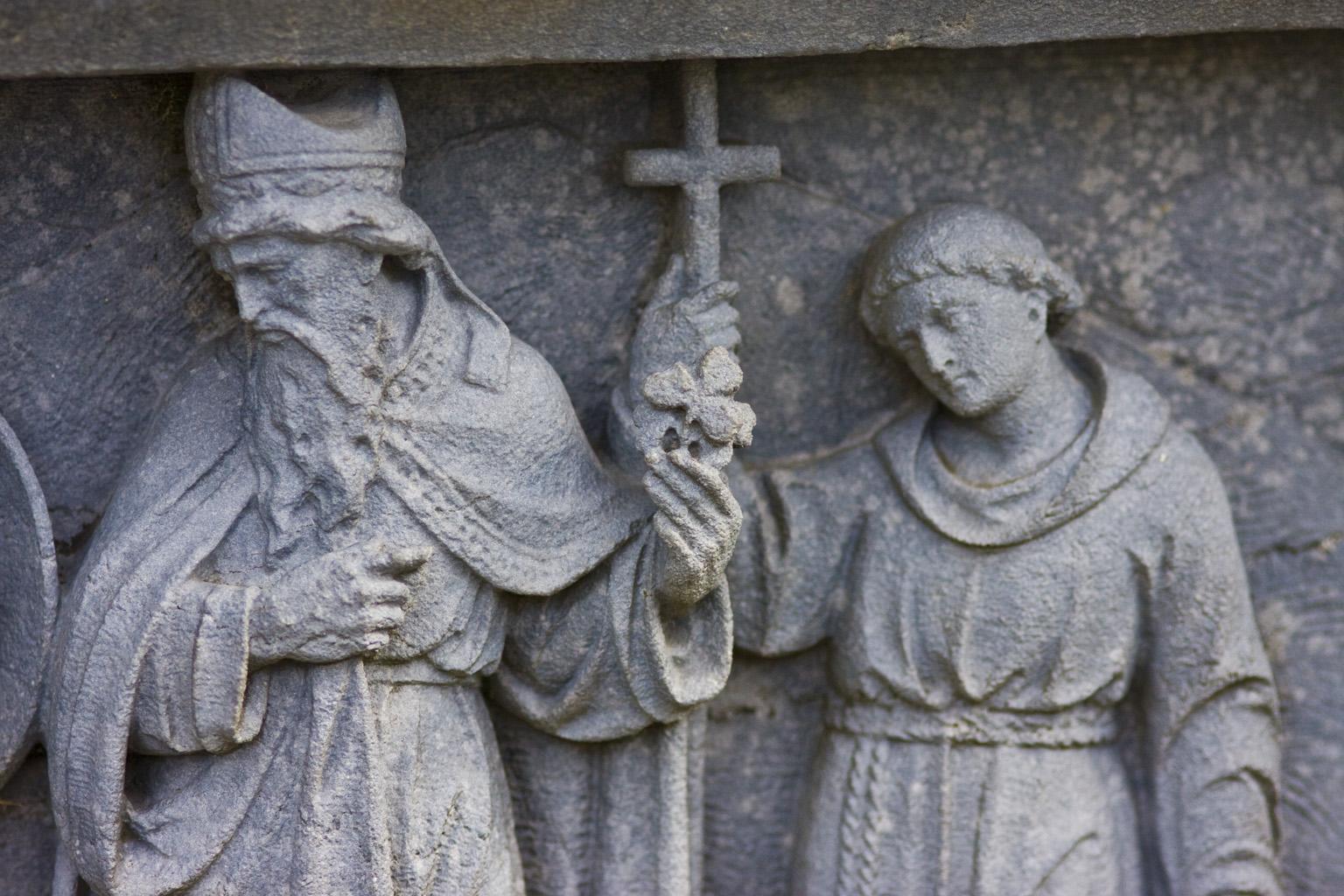image of saint patrick sculpture