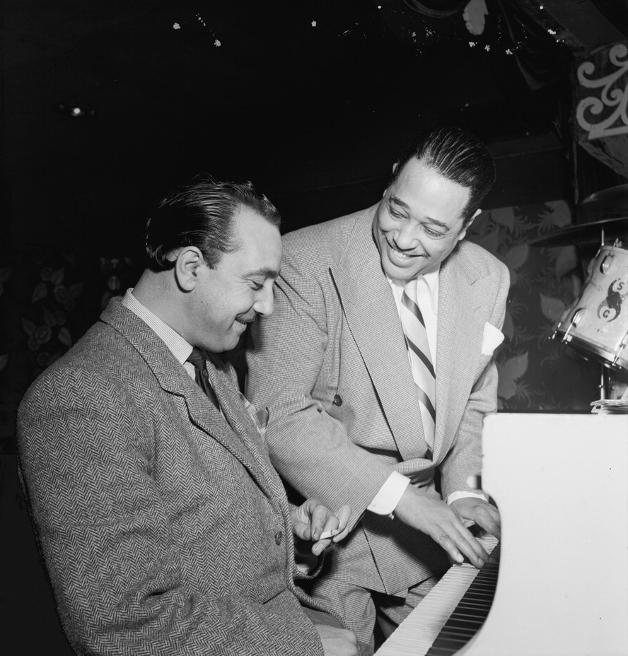 photo of django reinhardt and duke ellington