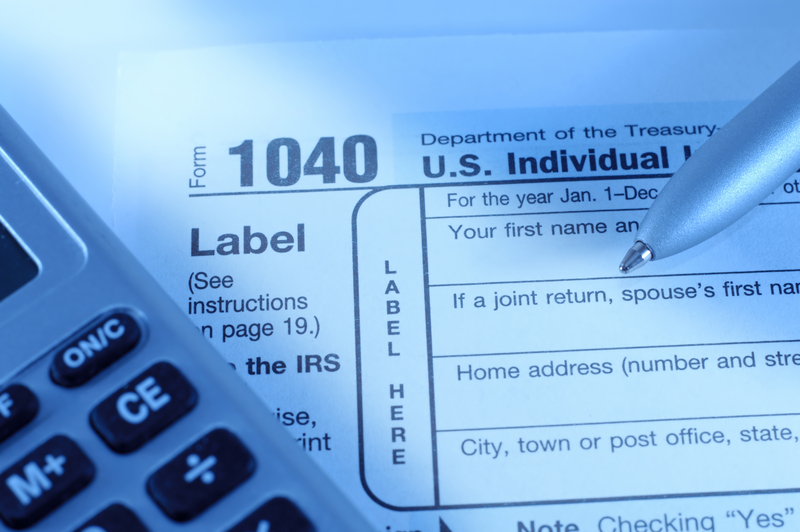 photo of income tax statement