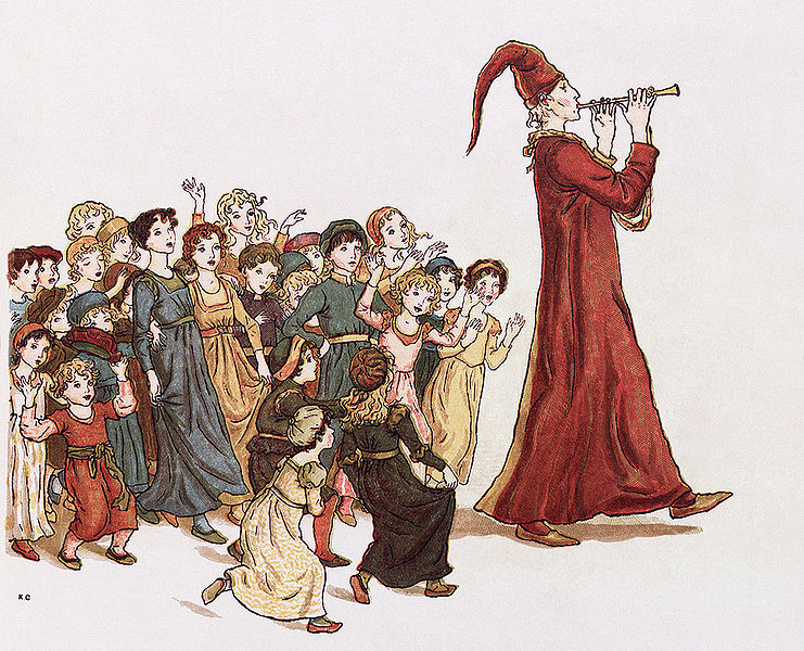 drawing of pied piper
