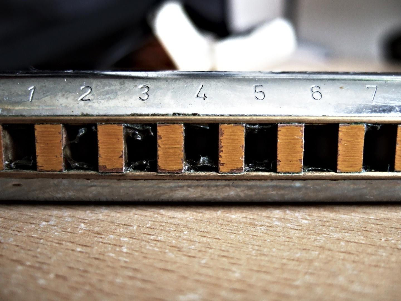 photo of harmonica