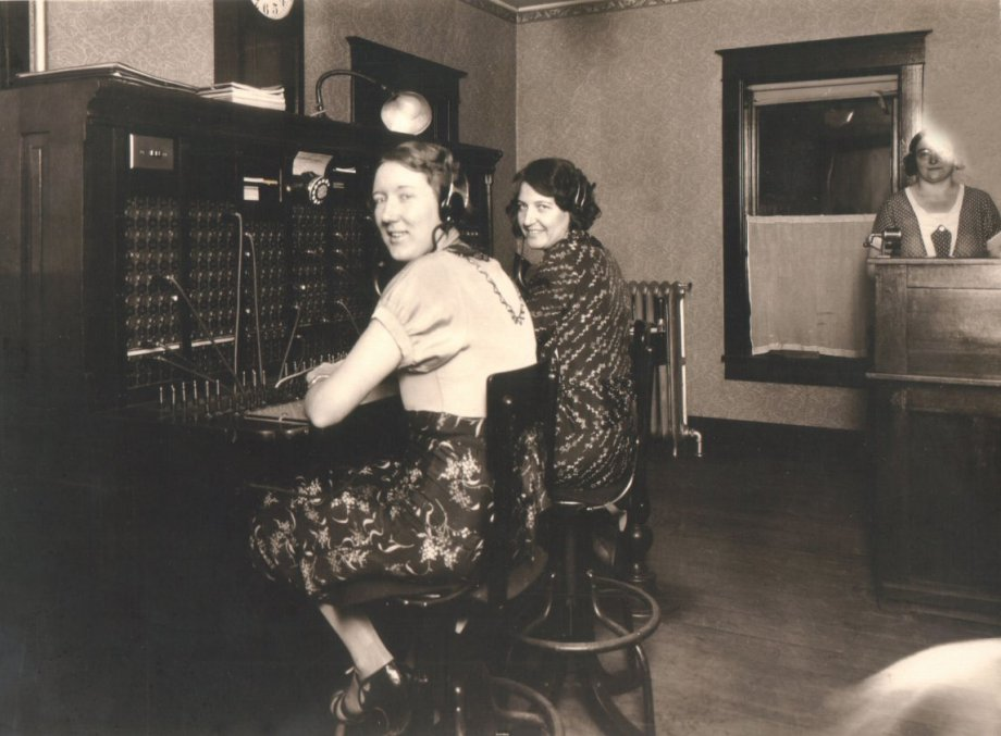 photo of two telephone operators