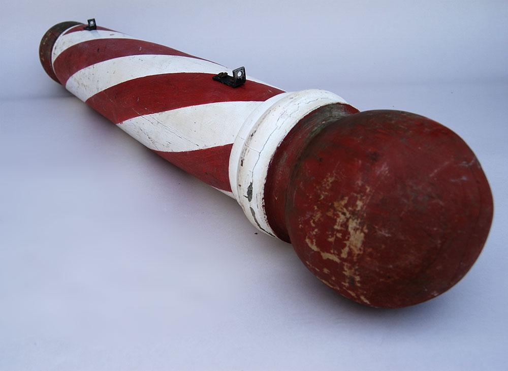 photo of a barber pole