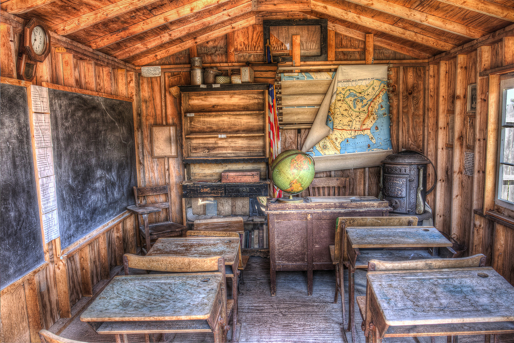 photo of a school house