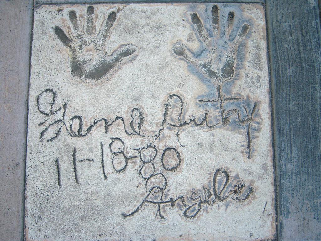 hand prints in sidewalk photo