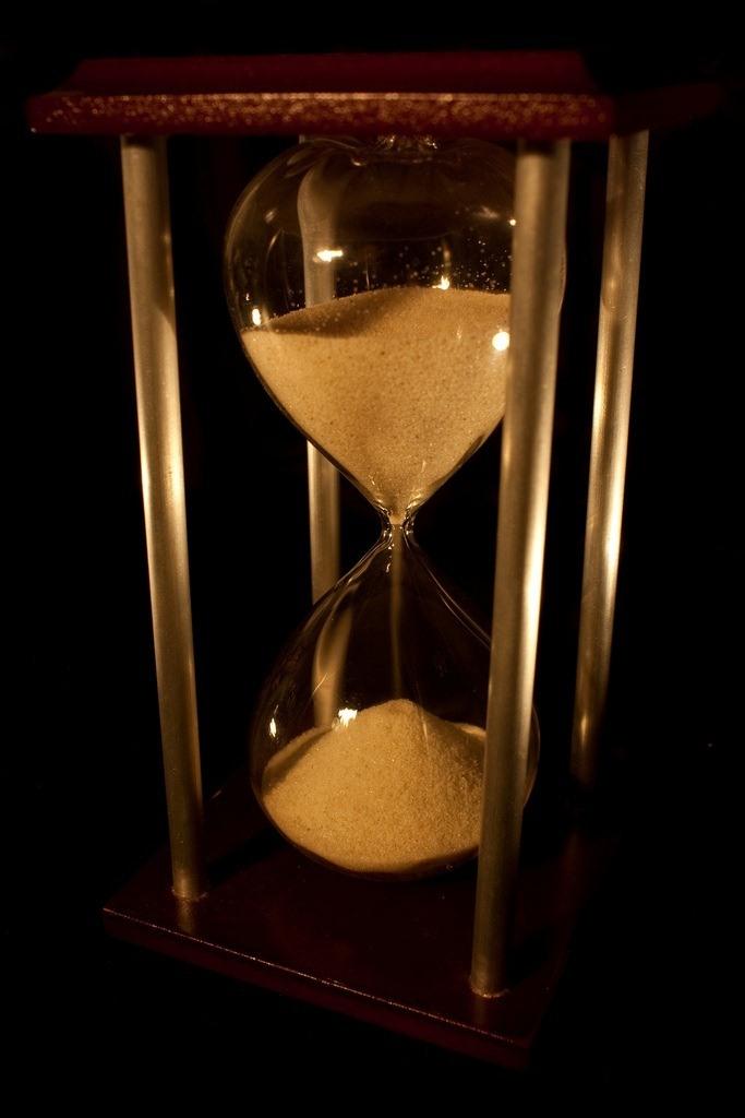 photo of hourglass