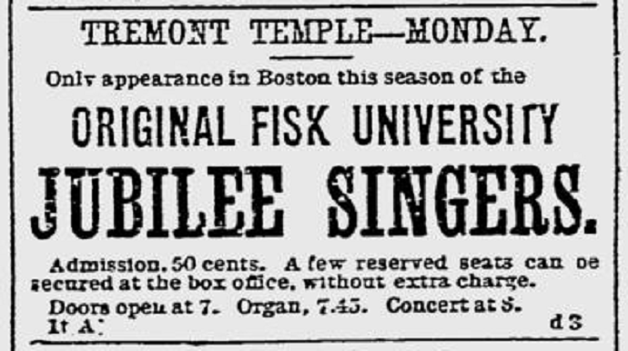 sign for fisk jubilee singers