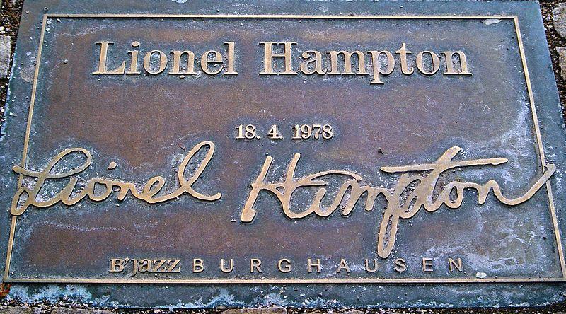 lionel hampton plaque