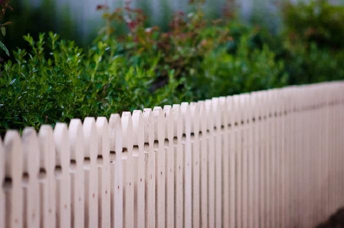 white picket fence photo