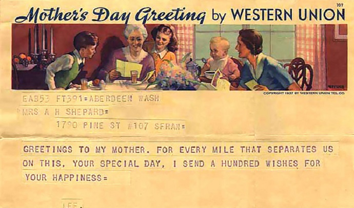 picture of mothers day western union greeting