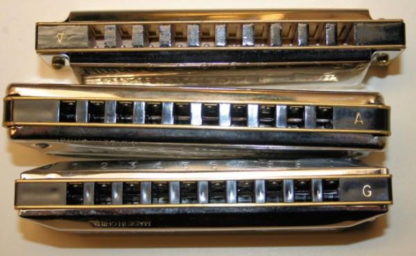 photo of harmonicas