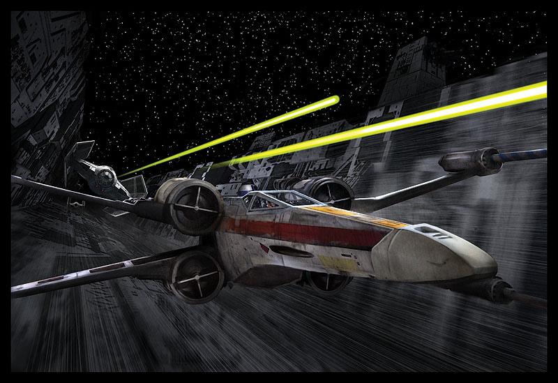 star wars trench run image