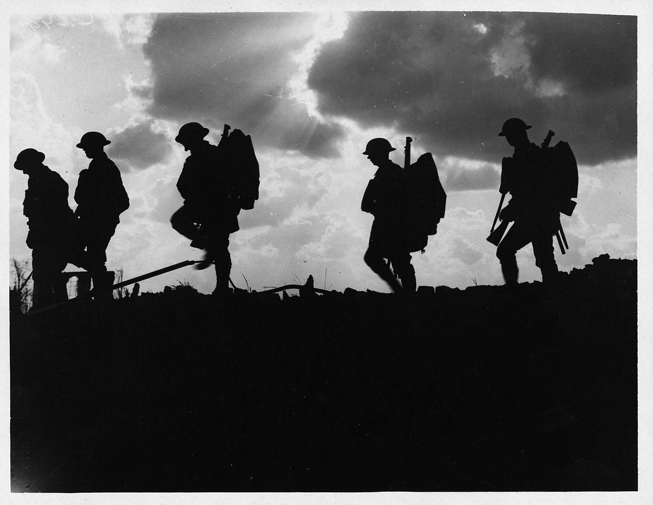 photo of soliders walking
